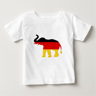 Deutsche Flagge - Elefant Baby T-shirt