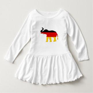 Deutsche Flagge - Elefant Kleid