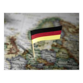 Deutsche Flagge in der Karte Postkarte