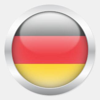 Deutsche Flagge in der Kugel Runder Aufkleber