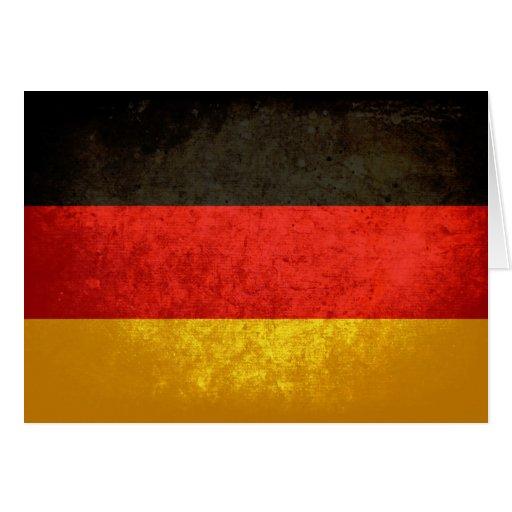 Deutsche Flagge Grußkarte