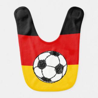 Deutsche Flagge mit Fußball Babylätzchen