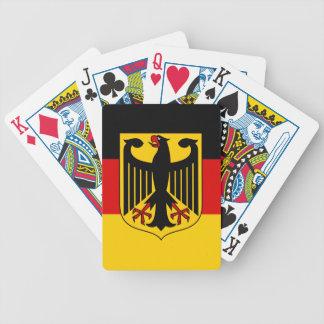 Deutsche Flagge mit Wappen-Spielkarten Pokerkarten
