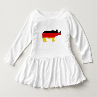 Deutsche Flagge - Nashorn Kleid