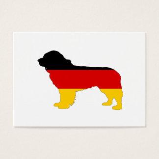 Deutsche Flagge - Neufundland-Hund Visitenkarte