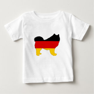 Deutsche Flagge - Samoyed Baby T-shirt