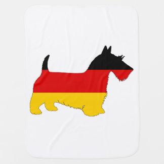 Deutsche Flagge - schottischer Terrier Kinderwagendecke