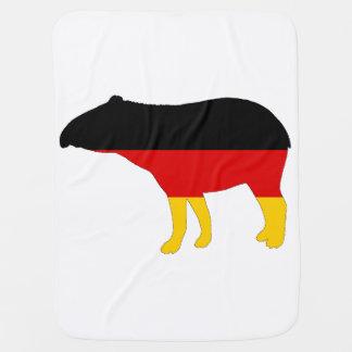 Deutsche Flagge - Tapir Babydecke
