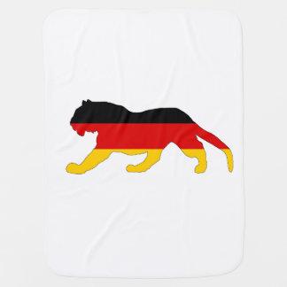 Deutsche Flagge - Tiger Kinderwagendecke