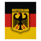 Deutsche Flagge u. Wappen Poster