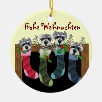 Deutsche frohe Weihnacht-Verzierung Keramik Ornament