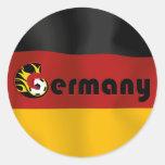 Deutsche Fußball-Flagge Runder Sticker