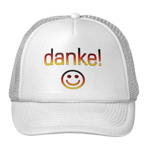 Deutsche Geschenke: Danke/Danke + Smiley Retrokultkappe