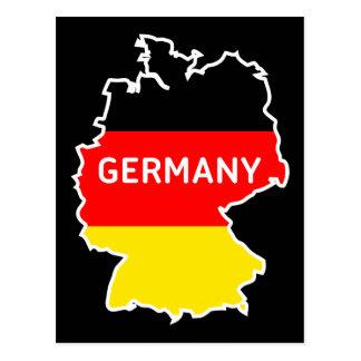 Deutsche Karte und Flagge