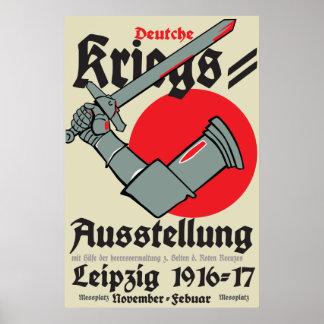 Deutsche Kriegsausstellung des Plakats WW1 in Poster