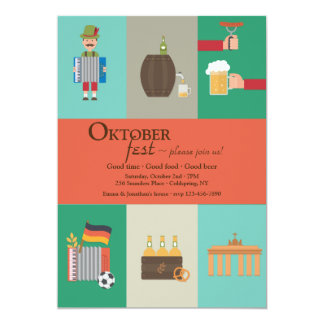 Deutsche Kultur Oktoberfest Einladung