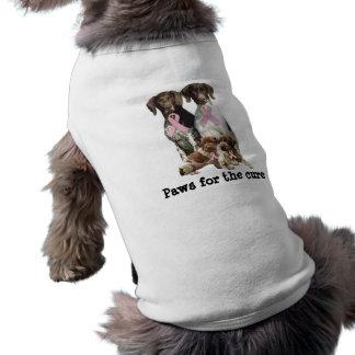 Deutsche kurzhaarige Brustkrebs-Haustier-Kleidung T-Shirt