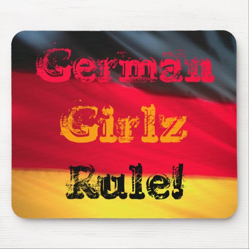 Deutsche Mädchen Girlz Regel! Mauspad