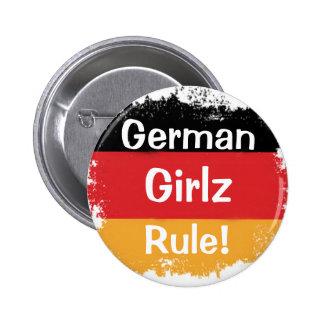 Deutsche Mädchen, Girlz, Regel! Runder Button 5,7 Cm