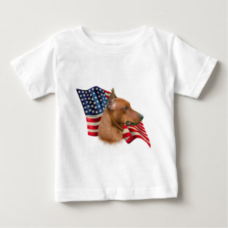 Deutsche Pinscher-Flagge Baby T-shirt