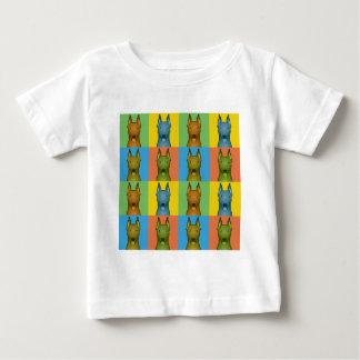 Deutsche Pinscher-HundeCartoon Pop-Kunst Baby T-shirt
