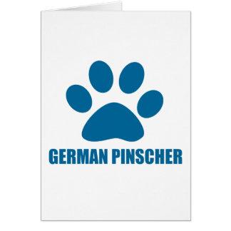 DEUTSCHE PINSCHER-HUNDEentwürfe Karte