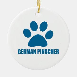 DEUTSCHE PINSCHER-HUNDEentwürfe Keramik Ornament