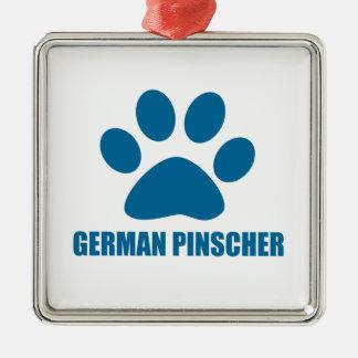 DEUTSCHE PINSCHER-HUNDEentwürfe Silbernes Ornament