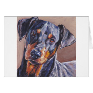 deutsche Pinscher-Kunst-Hundemalerei Karte