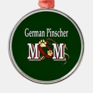 Deutsche Pinscher-Mamma-Geschenke Silbernes Ornament