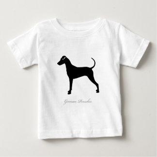 Deutsche Pinscher-Silhouette Baby T-shirt
