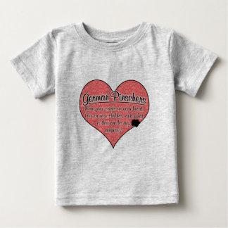 Deutsche Pinscher-Tatze druckt Hunde Humor Baby T-shirt
