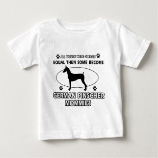 Deutsche Pinscherhundeentwürfe Baby T-shirt