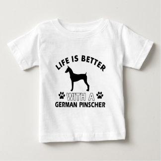 Deutsche Pinscherhundezuchtentwürfe Baby T-shirt