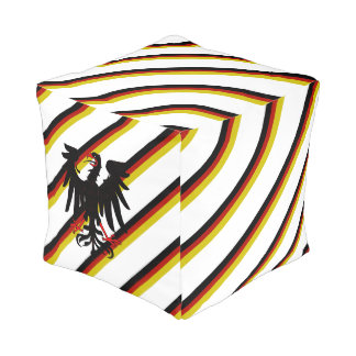 Deutsche Streifenflagge Kubus Sitzpuff