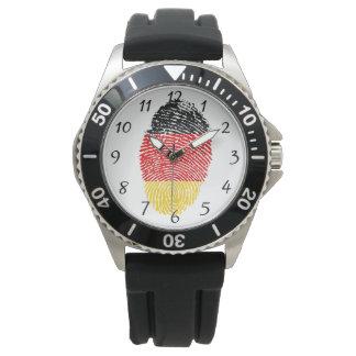 Deutsche Touchfingerabdruckflagge Armbanduhr