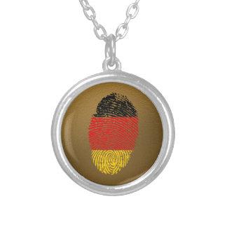 Deutsche Touchfingerabdruckflagge Halskette Mit Rundem Anhänger
