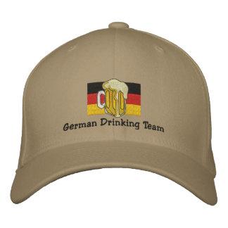 Deutsche trinkende Team gestickte Kappe