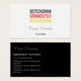Deutsche Tutor-Visitenkarten Visitenkarte