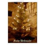 Deutsche Weihnachtenkarte-c$frohe Weihnacht Grußkarte