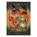 Deutsche Weihnachtskarte - Frohe Weihnachten Grußkarte