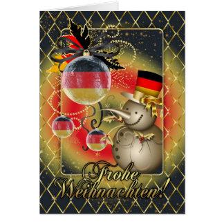 Deutsche Weihnachtskarte - Frohe Weihnachten Karte