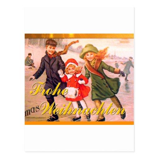deutsche weihnachtskarte frohe weihnachten postkarte zazzle. Black Bedroom Furniture Sets. Home Design Ideas