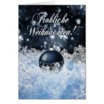 Deutsche Weihnachtskarte - Gesegnete Weihnachten Grußkarte