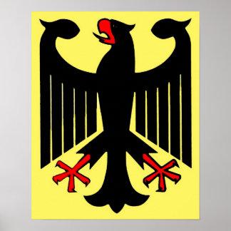 Deutscher bundesstaatlicher schwarzer Adler auf ge Poster