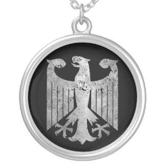 Deutscher Eagle Halskette Mit Rundem Anhänger