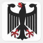Deutscher Eagle Quadratischer Aufkleber