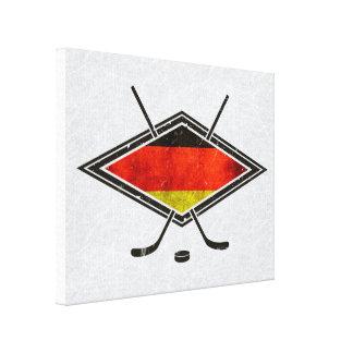 Deutscher Eis-Hockey-Flaggen-Druck Leinwanddruck