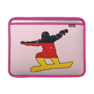 Deutscher Flagge SNOWBOARDER (Schwarzes) MacBook Air Sleeve