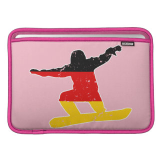 Deutscher Flagge SNOWBOARDER (weiß) Sleeve Fürs MacBook Air